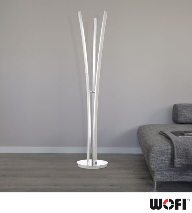 led floor lamps 3 light led floor lamp polished chrome with opal glass led lamps - Led Floor Lamp