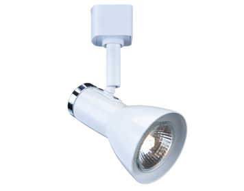 Searchlight 1 Light Track Spotlight, White Finish - 3709WH