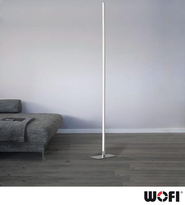 Hortons Lighting Outlet: Wofi Horton LED 1 Light Floor Lamp, Matt Nickel & Polished