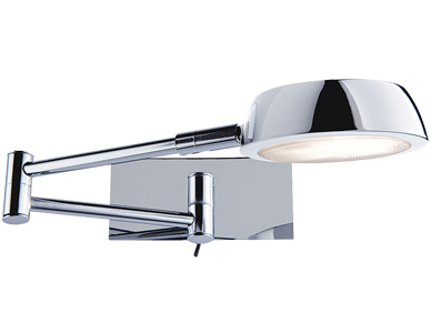 Searchlight Swing Arm Wall Light, Polished Chrome Finish - 3863CC