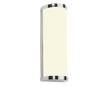 Endon Ice 1 Light 28W Wall Light, Chrome Plate & Matt Opal Duplex Glass Finish - 39363