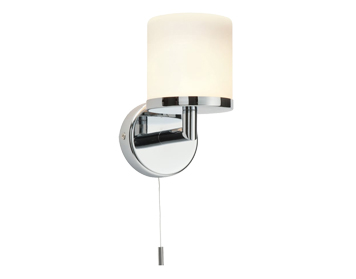 Endon Lipco 1 Light Wall Light, Chrome Plate & Matt Opal Duplex Glass Finish - 39608