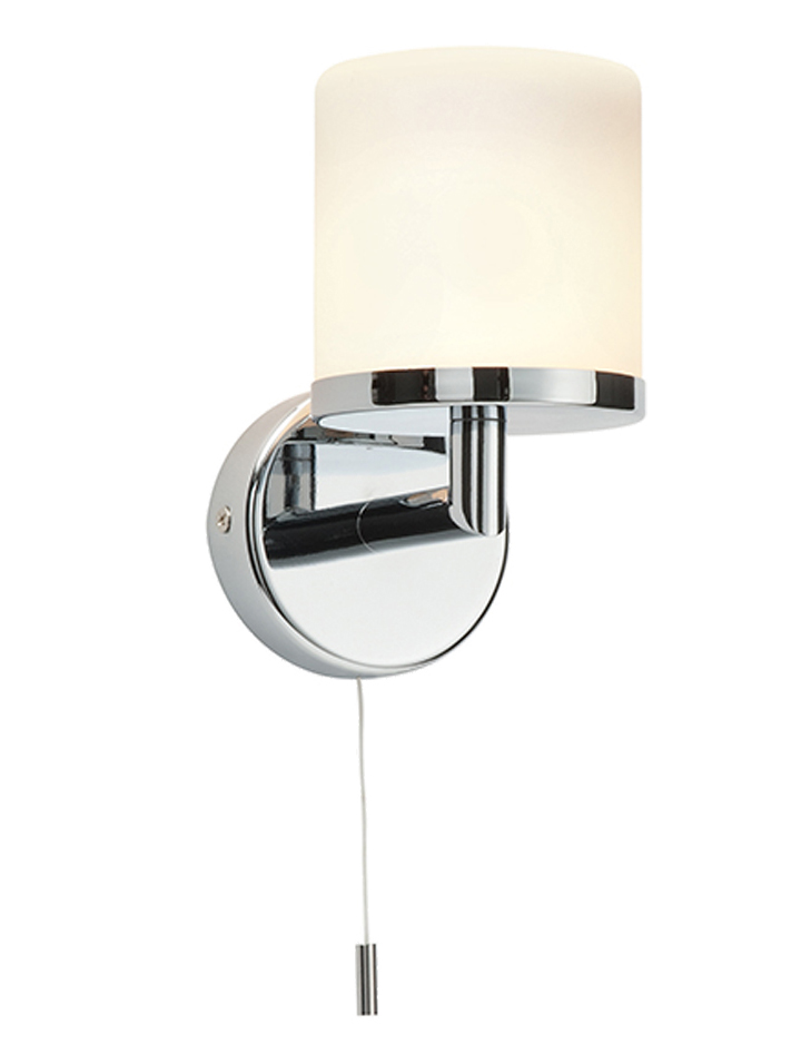 Endon Lipco IP44 1 Light Wall Light, Chrome Plate & Matt Opal Duplex Glass - 39608 from Easy ...