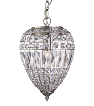 crystal pendant lighting. Searchlight 1 Light Ceiling Pendant Satin Silver With Crystal Glass Buttons 3991SS Lighting E