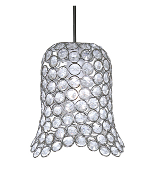 Oaks Lighting 'Ireby' Small Non-Electric Clear Acrylic Ceiling Pendant, Chrome - 401 CH SM