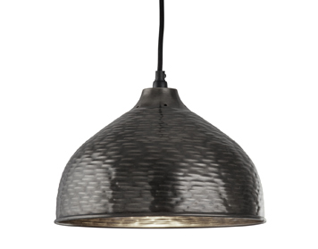 Searchlight Vintage (290mm) 1 Light Pendant Ceiling Light, Pewter Finish - 4013-29PW