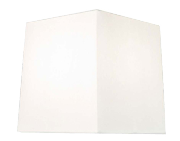 Astro Azumi/Lambro Square Shade, White Fabric Finish - 4018