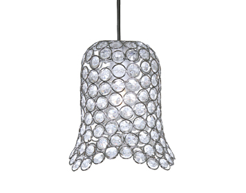 Oaks Lighting Ireby Small Non-Electric Clear Acrylic Ceiling Pendant, Chrome Finish - 401 CH SM