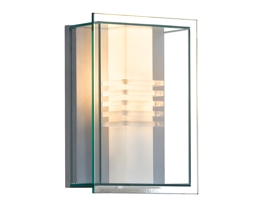 konstsmide mani 1 light outdoor wall light black transparent glass diffuser 415 750 from. Black Bedroom Furniture Sets. Home Design Ideas