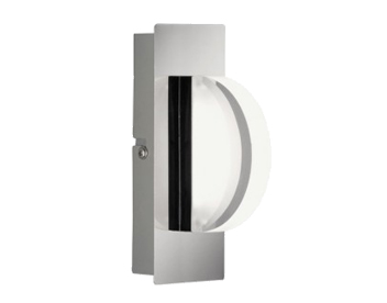 Wofi Estera 1 Light LED Switched Wall Light, Chrome Finish - 4093.01.01.0000