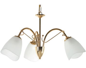 Oaks Lighting Turin 3 Light Ceiling Light, Polished Brass - SALE-4106/3 BP