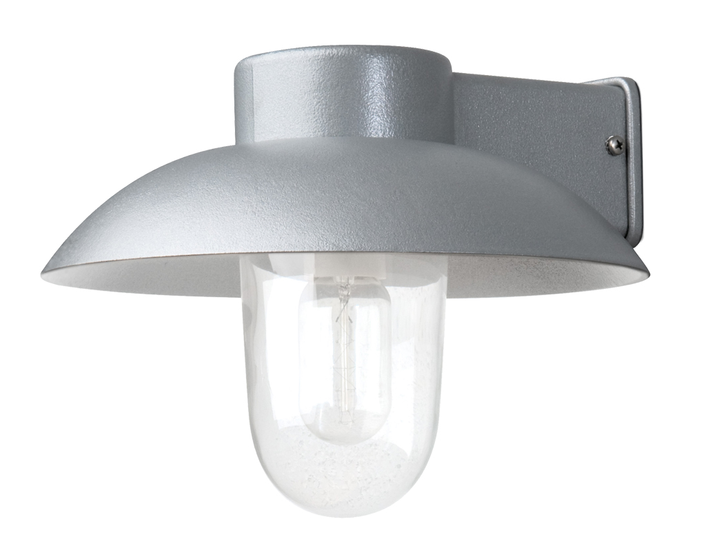 Konstsmide Sol IP44 1 Light Outdoor Wall Light, Clear Acrylic & Frosted Glass Lamp Cover - 409 ...