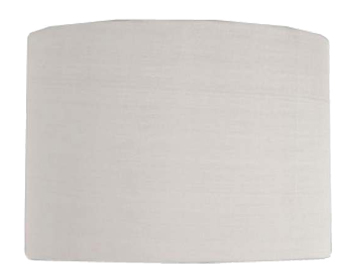 Astro Drum 200 Shade, White Fabric Finish - 4174