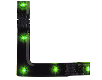 Firstlight LED 90 Degree Angle Strip, Green - 4207GN