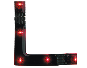 Firstlight LED 90 Degree Angle Strip, Red - 4207RE