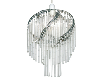 Oaks Lighting Dara Non-Electric Ceiling Pendant, Polished Chrome Finish - 420 CH