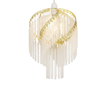 Oaks Lighting Dara Non-Electric Ceiling Pendant, Polished Brass Finish - 420 PB