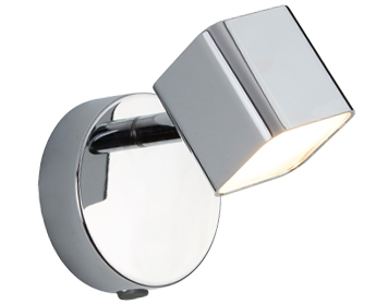 Searchlight Quad 1 Light LED Square Head Wall Spotlight, Chrome Finish - 4231CC