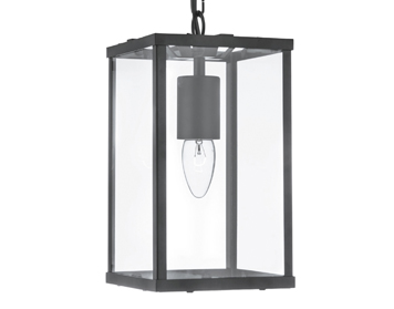 Searchlight Voyager 1 Light Pendant Ceiling Light, Matt Black Finish - 4241BK