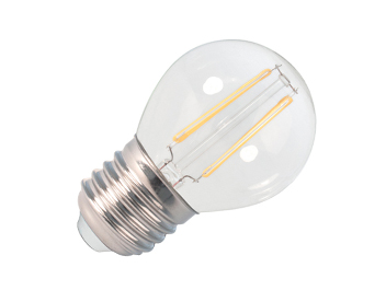 Calex 2W E27 LED Non-Dimmable Filament Golf Ball Bulb, Clear - 425112