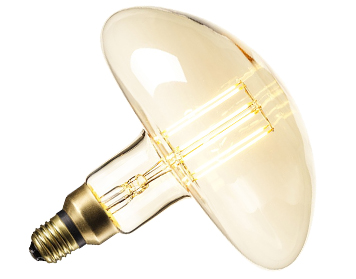 Calex XXL Gold Series Calgary 6W 240V E27 LED Dimmable Filament Bulb, Gold - 425940