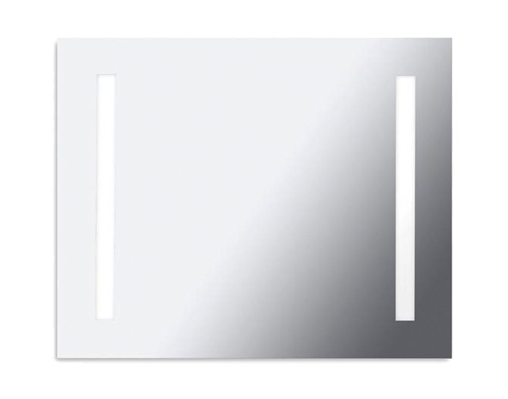 leds c4 ip44 800mm x 650mm bathroom mirror light polished
