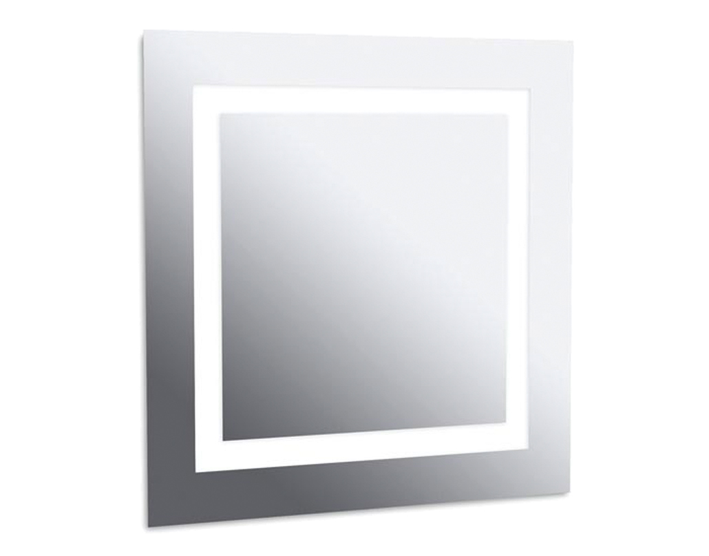 Leds c4 39 reflex 39 ip44 800mm x 650mm led bathroom mirror Polished chrome bathroom mirrors