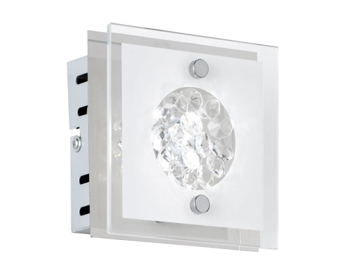 Wofi Reims LED 1 Light Wall Light, Chrome Finish - 4272.01.01.0000