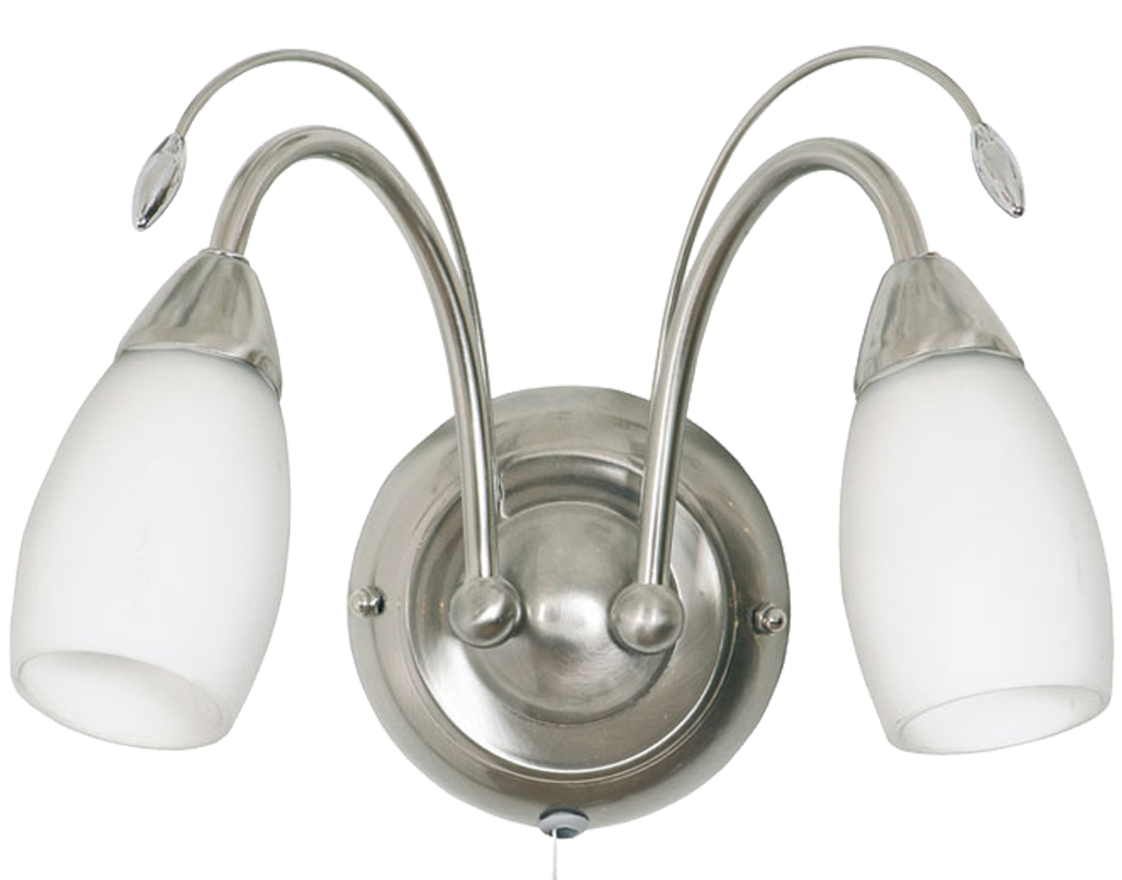 Double wall lights from easy lighting oaks lighting antwerp twin wall light antique chrome 43162 ac aloadofball Images