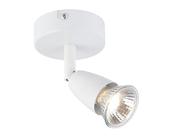 ceiling spot lighting. Endon Amalfi Single Spotlight, Gloss White Finish - 43281 Ceiling Spot Lighting