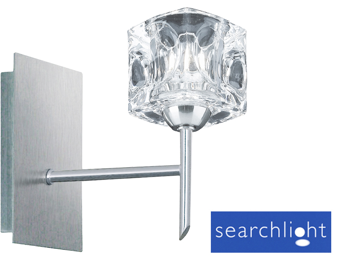 Searchlight ice cube glass wall light satin silver 4341 1 from searchlight ice cube glass wall light satin silver 4341 1 mozeypictures Images