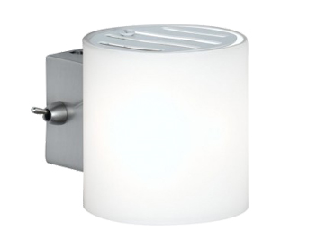 Wofi Aqaba 1 Light Switched Wall Light, Matt Nickel Finish - 4451.01.64.0500