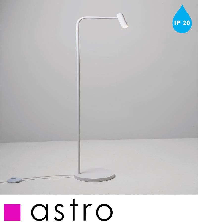 Astro 39enna39 led floor lamp ip20 painted white 4569 for White painted floor lamp
