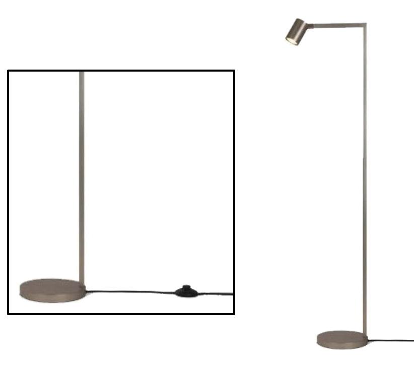 Astro Ascoli LED Switched Floor Lamp, Matt Nickel Finish - 4583