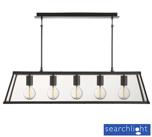 Searchlight Voyager 5 Light Lantern Bar Pendant Light
