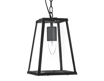 Searchlight 1 Light Pendant Ceiling Light, Matt Black Finish - 4614BK