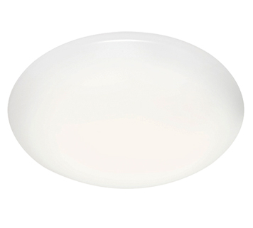 Endon Plume 16W LED Flush Ceiling Light, White Acrylic & Gloss White Paint - 46427