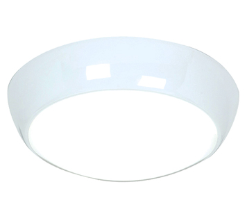 Endon Vigor LED 16W LED Flush Ceiling Light, Gloss White & Opal Polycarbonate - 46428