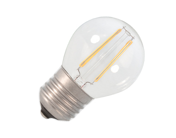 Calex 3.5W E27 LED Dimmable Filament Golf Ball Bulb, Clear - 474483