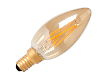 Calex 3.5W LED Dimmable Vintage Candle Lamp, Gold