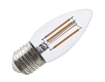 Calex E27 3.5W LED Candle Filament Lamp Dimmable, Clear