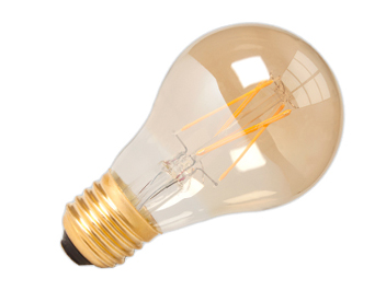 Calex 4W LED Dimmable Bulb, Gold