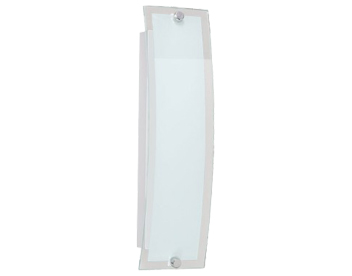 Action Lorenz 1 Light 30cm LED Wall Light, Matt Nickel & Glass Finish - 475401640000