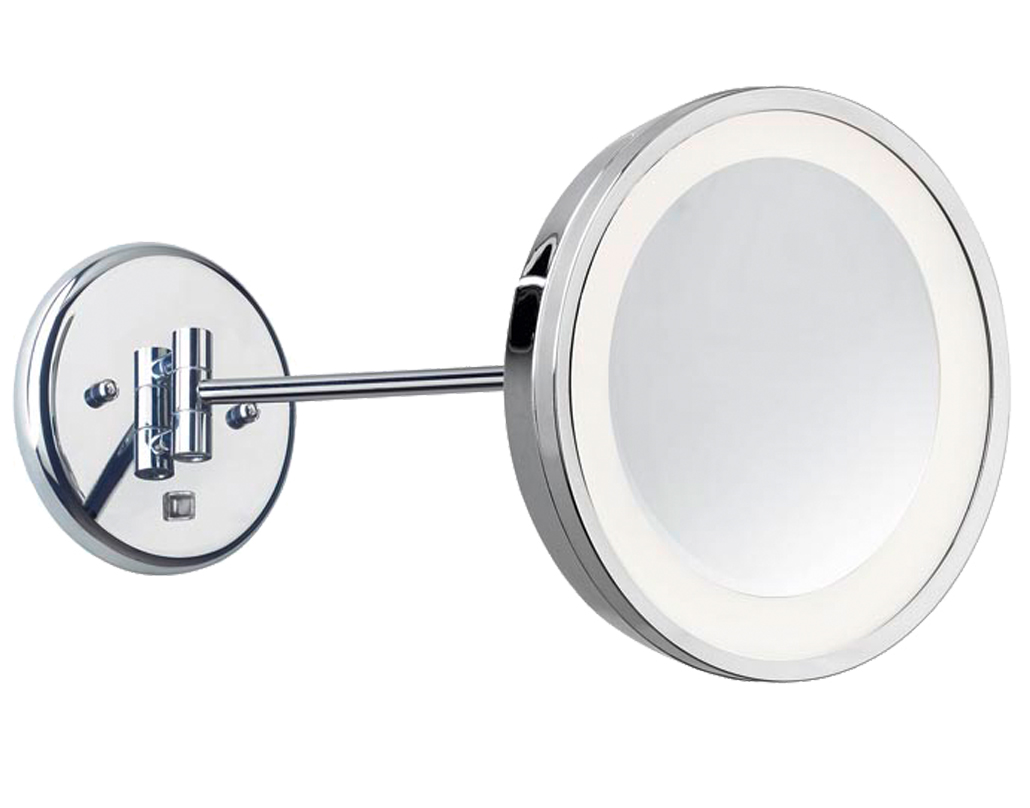 Leds c4 39 reflex 39 ip44 led adjustable illuminated bathroom mirror light polished chrome 75 Polished chrome bathroom mirrors