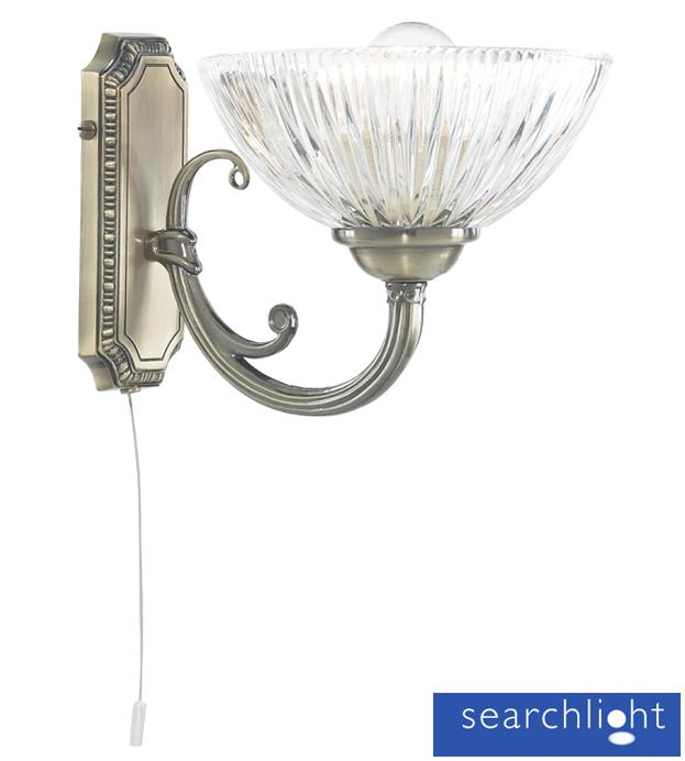 Searchlight Windsor Ii 1 Light Wall Light Antique Brass