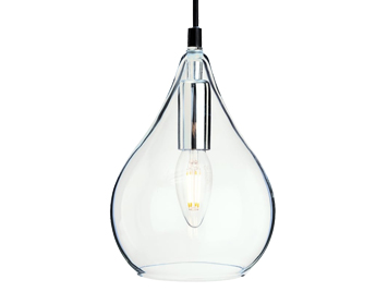 Firstlight Omar Ceiling Pendant Light, Chrome Finish With Clear Glass - 4877CH