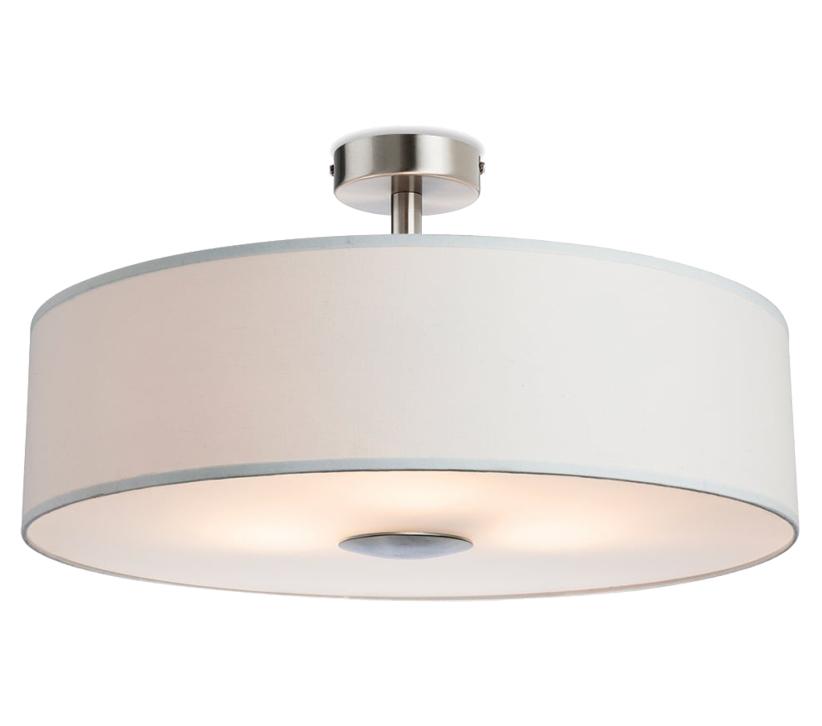 Firstlight madison 3 light semi flush ceiling light cream finish 4887cr