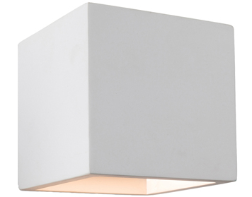 Firstlight Troy 1 Light Plaster Up And Down Wall Light, White - 4902