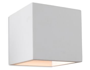 Firstlight 'Troy' 1 Light Plaster Up And Down Wall Light, White - 4902