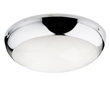 Firstlight Regis LED Flush Fitting Ceiling Light, Chrome Finish With Opal Polycarbonate Diffuser - 4912CH